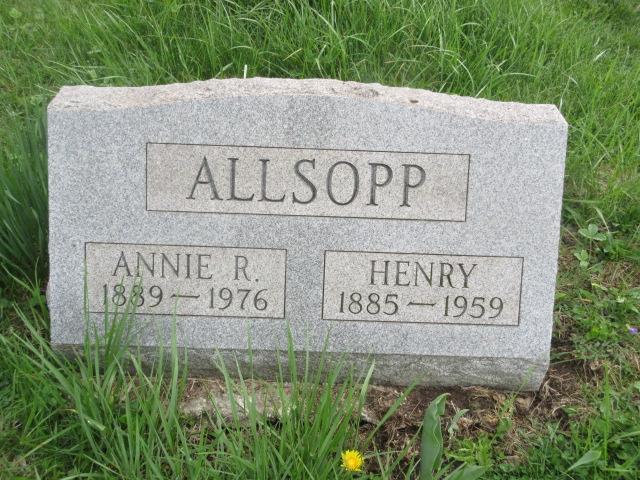 Anna Rebecca Annie <i>Lester</i> Allsopp