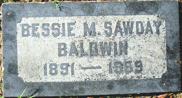 Bessie Matilda <i>Sawday</i> Baldwin