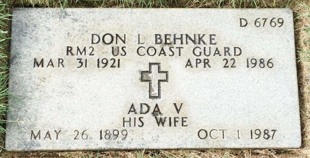 Ada V Behnke