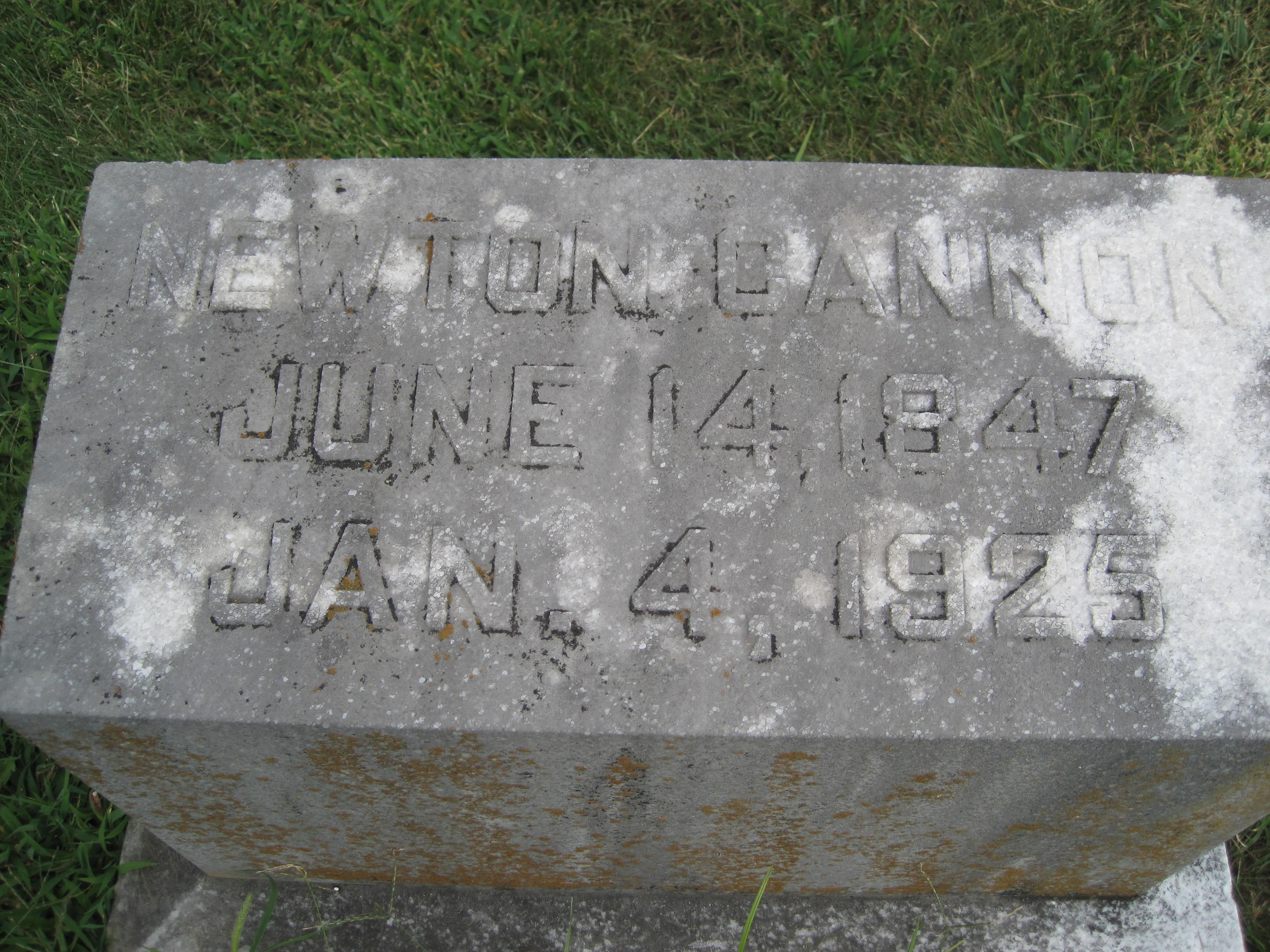COL Newton C Cannon, Sr