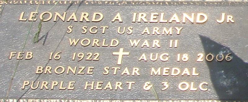 Leonard Arnot L.A. Ireland, Jr