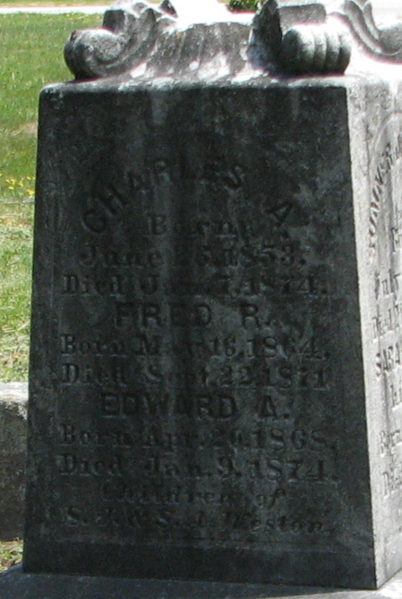 Fred Rogers Weston 1864 1871 Find A Grave Memorial