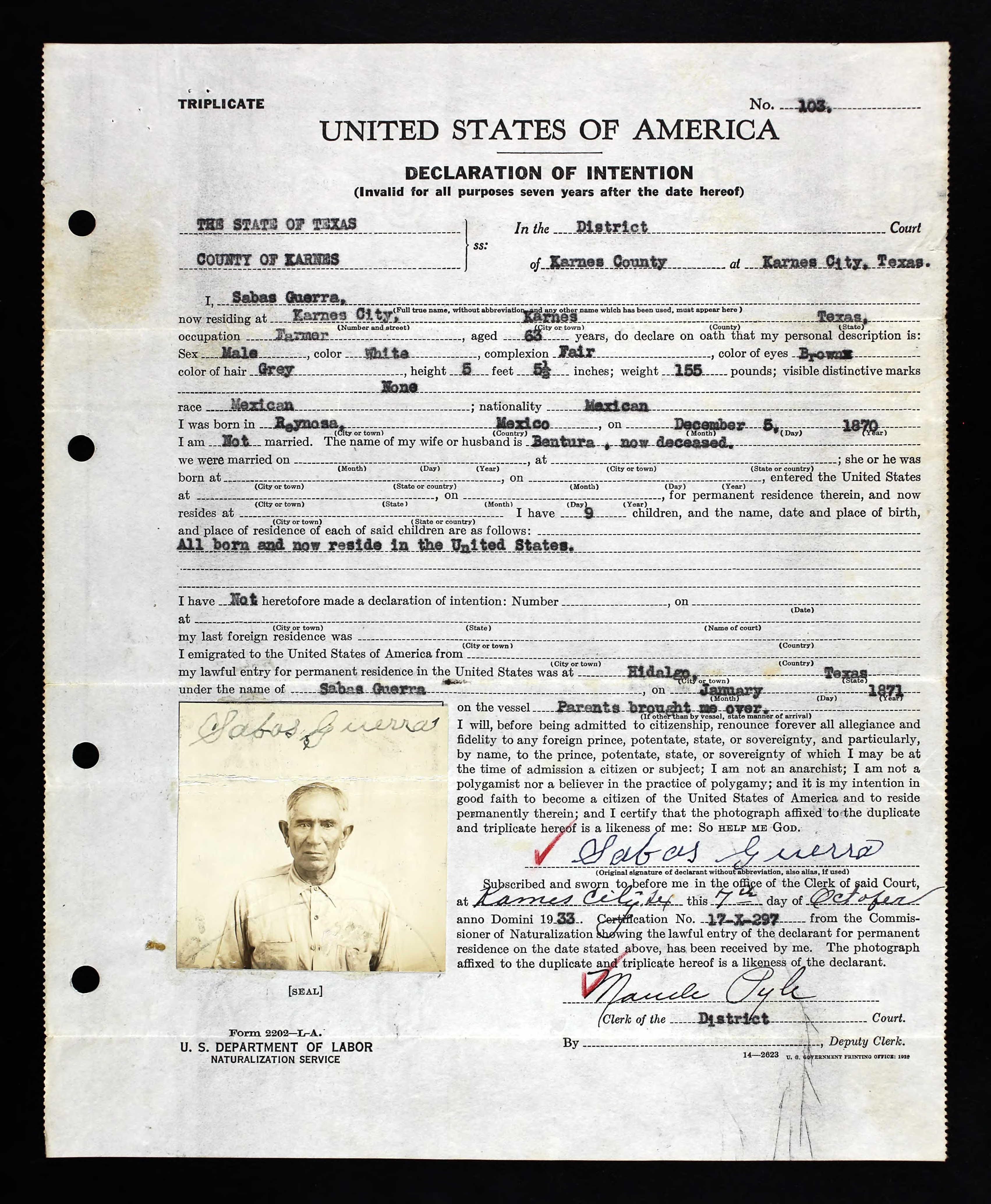 Mexican Birth Certificate 1907 Topsimages