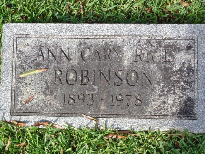 Ann Cary <i>Rice</i> Robinson