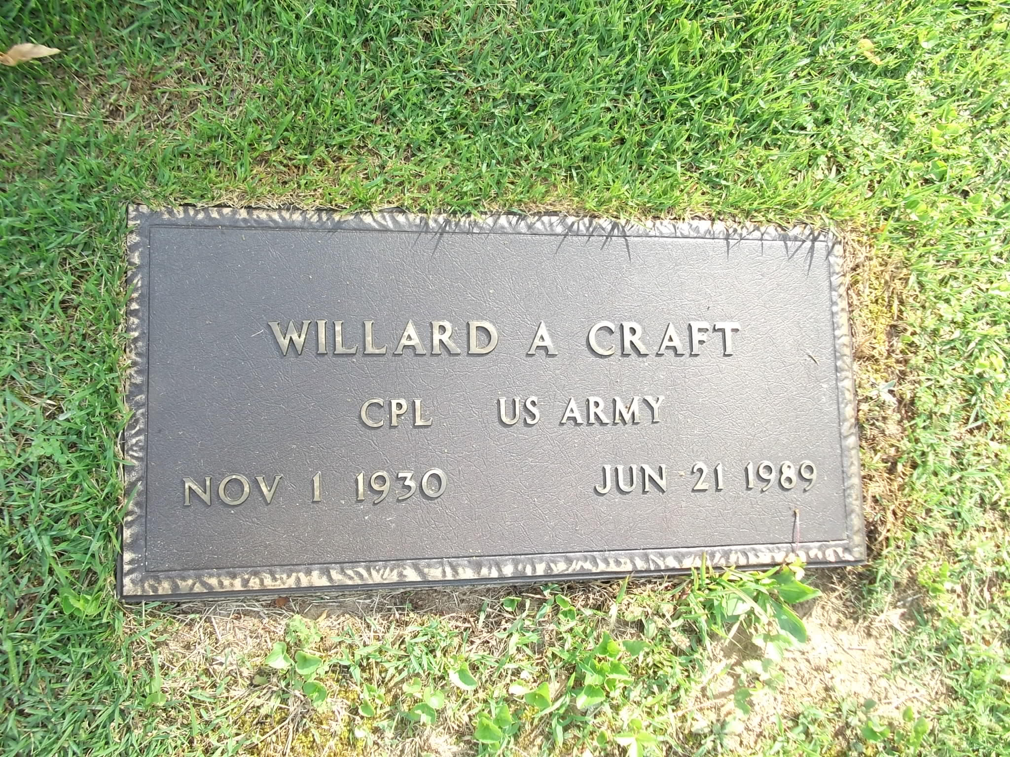 Willard Adair Craft