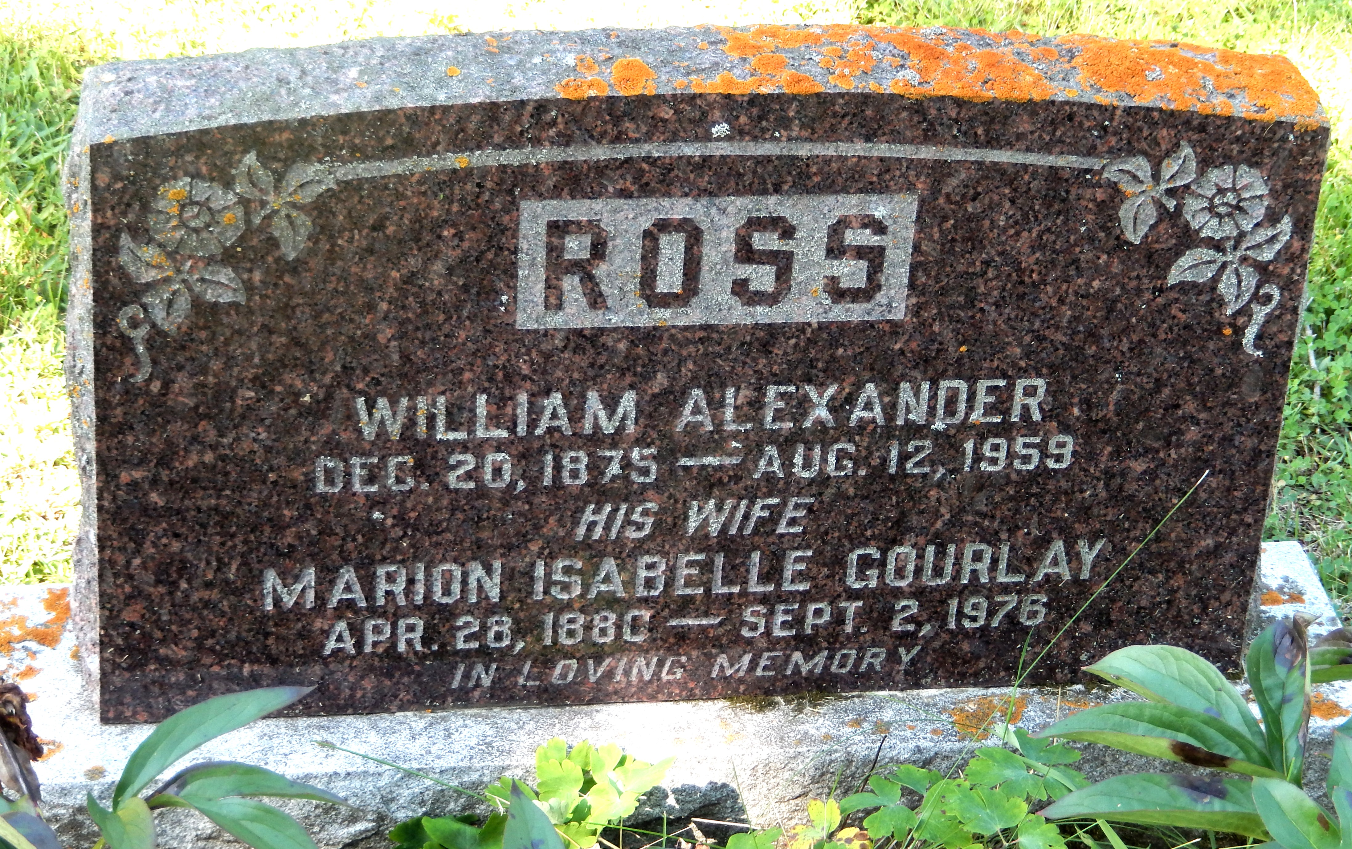Marion Isabelle <i>Gourlay</i> Ross