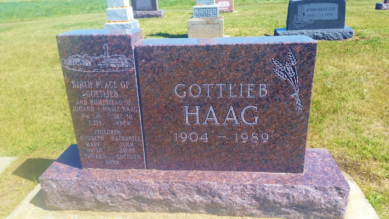 North dakota logan county fredonia - Gottlieb Haag