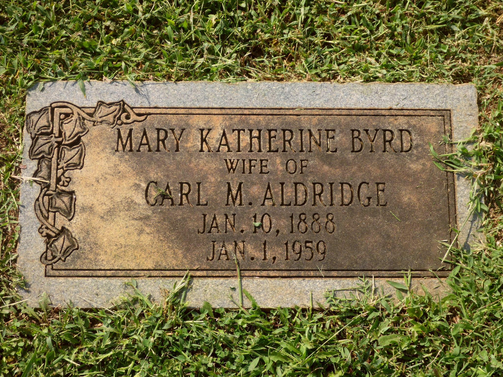 Mary Katherine <i>Byrd</i> Aldridge