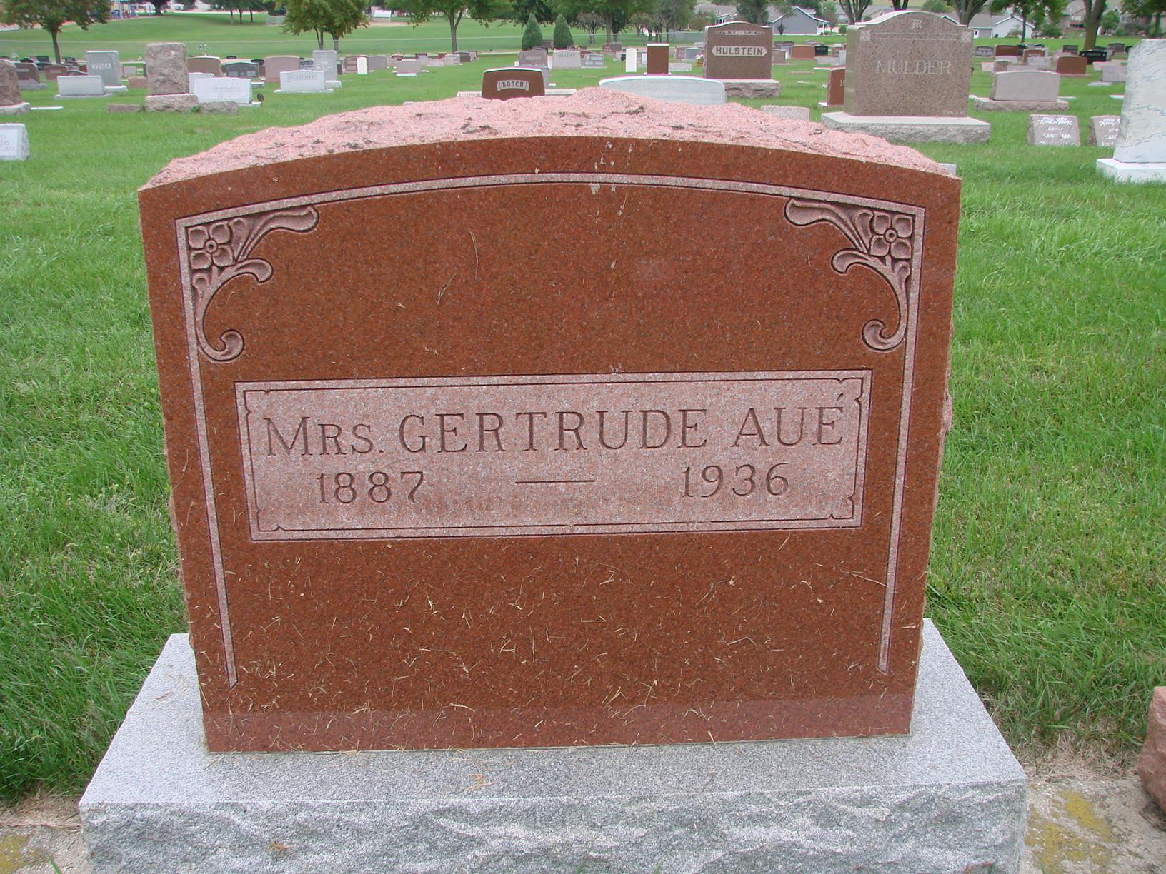 Gertrude <i>Van Kerkhoff</i> Aue