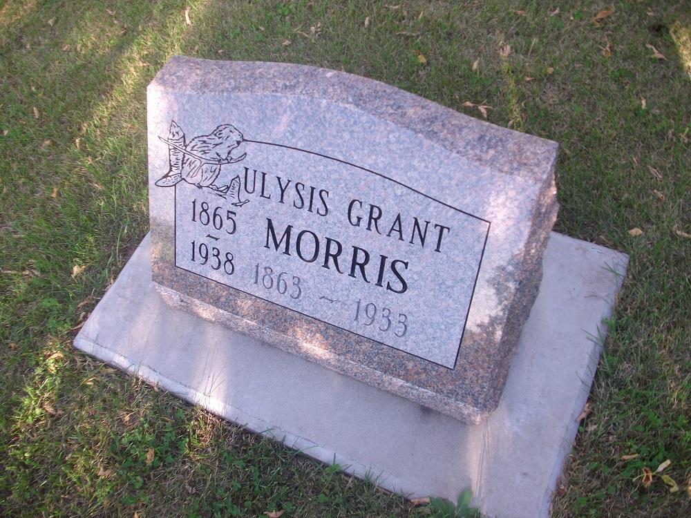 Headstone for Ulysis Grant Morris