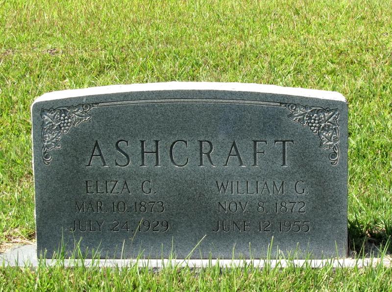Eliza A <i>Gann</i> Ashcraft