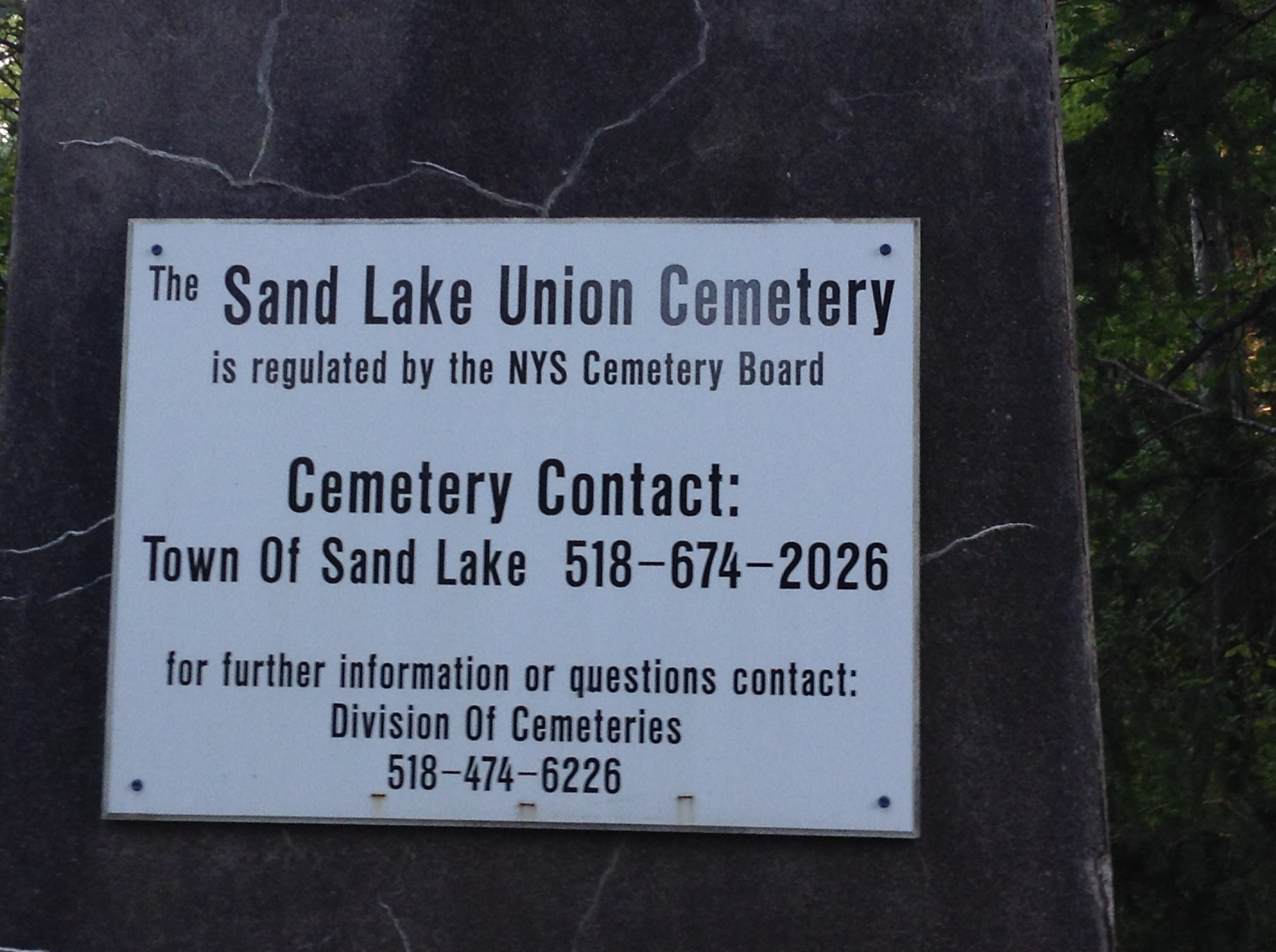 Sand Lake Union Cemetery