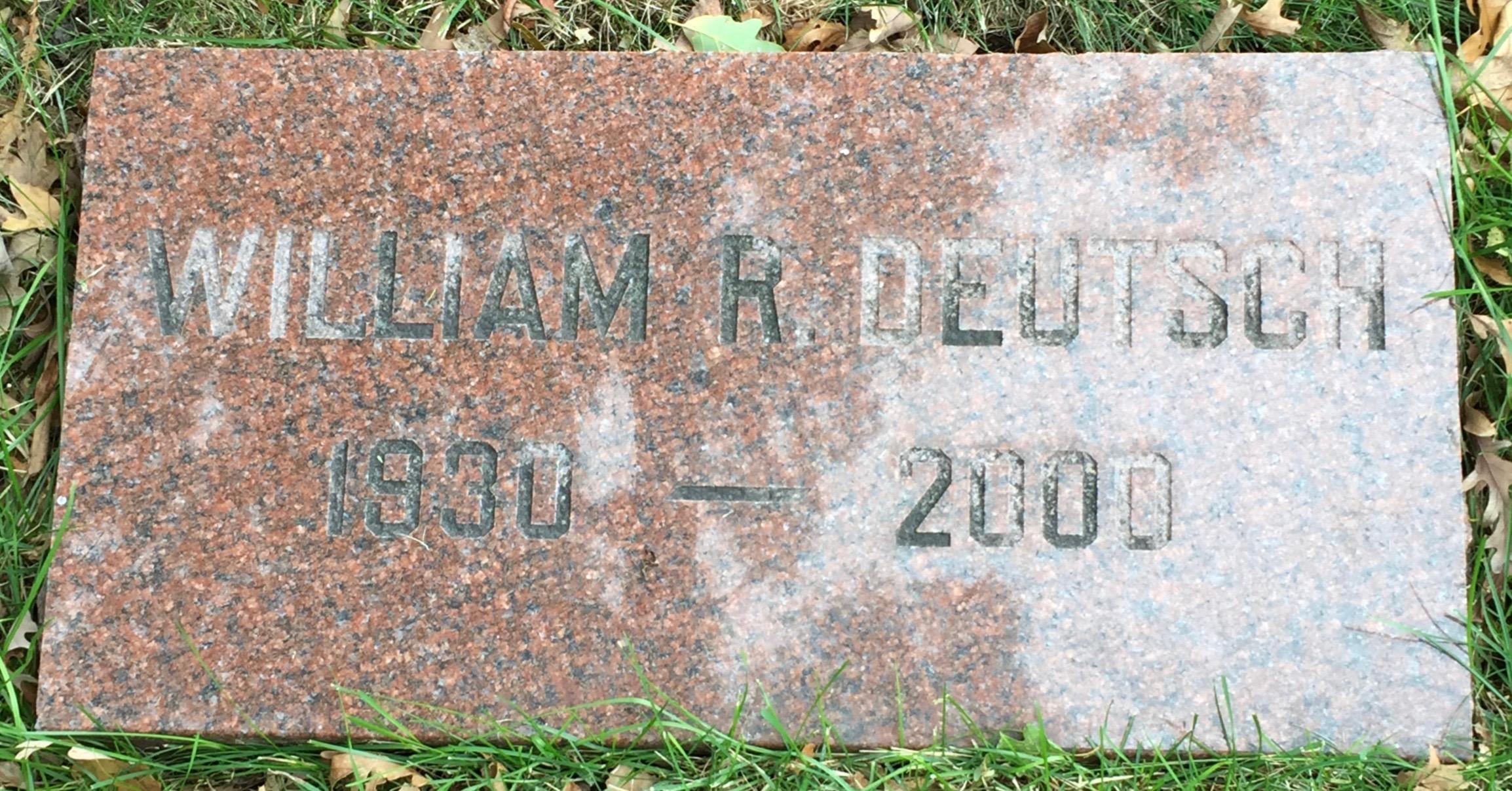 Rev William Robert Deutsch