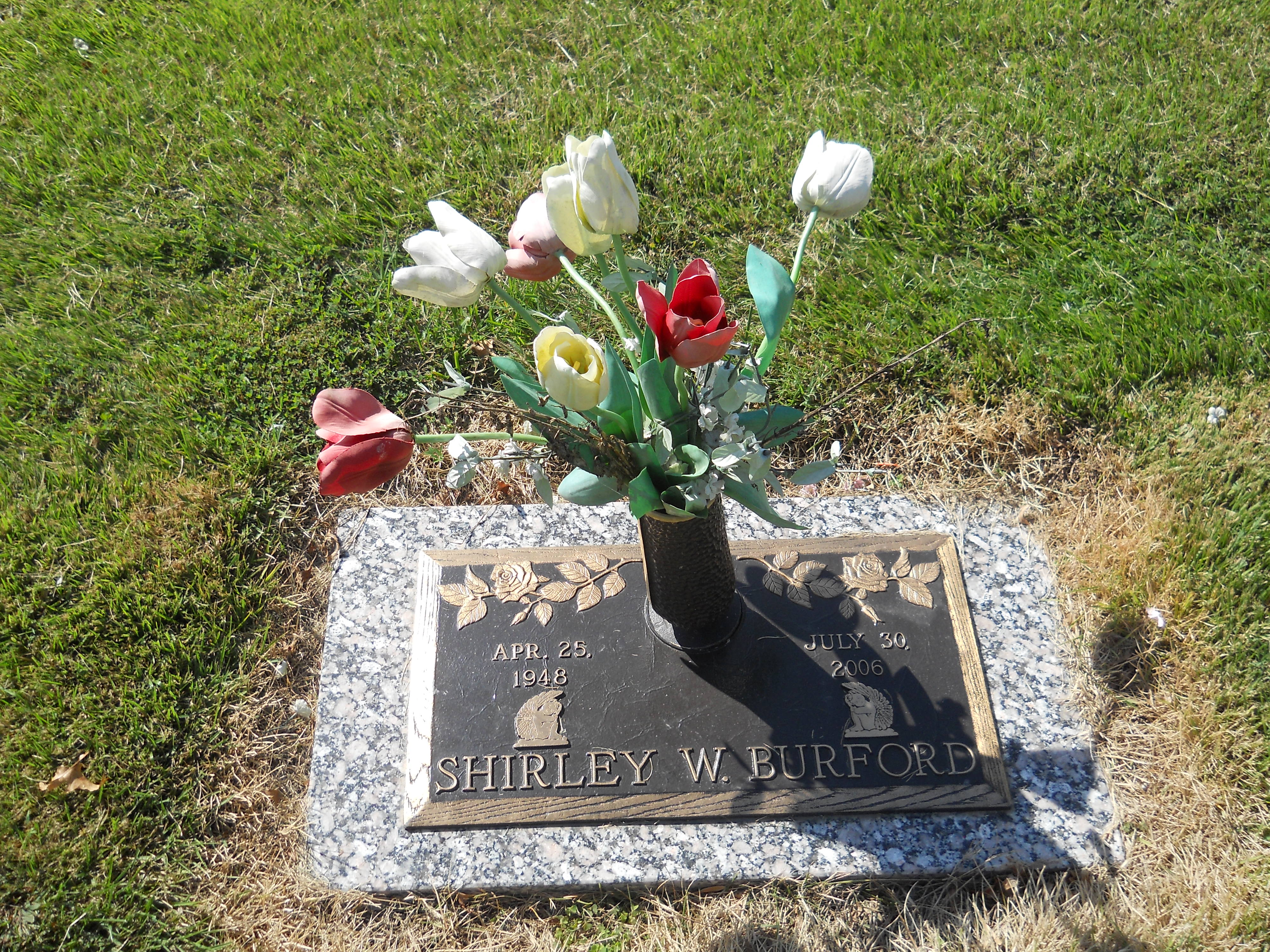 Shirley Wylene <i>Walker</i> Burford