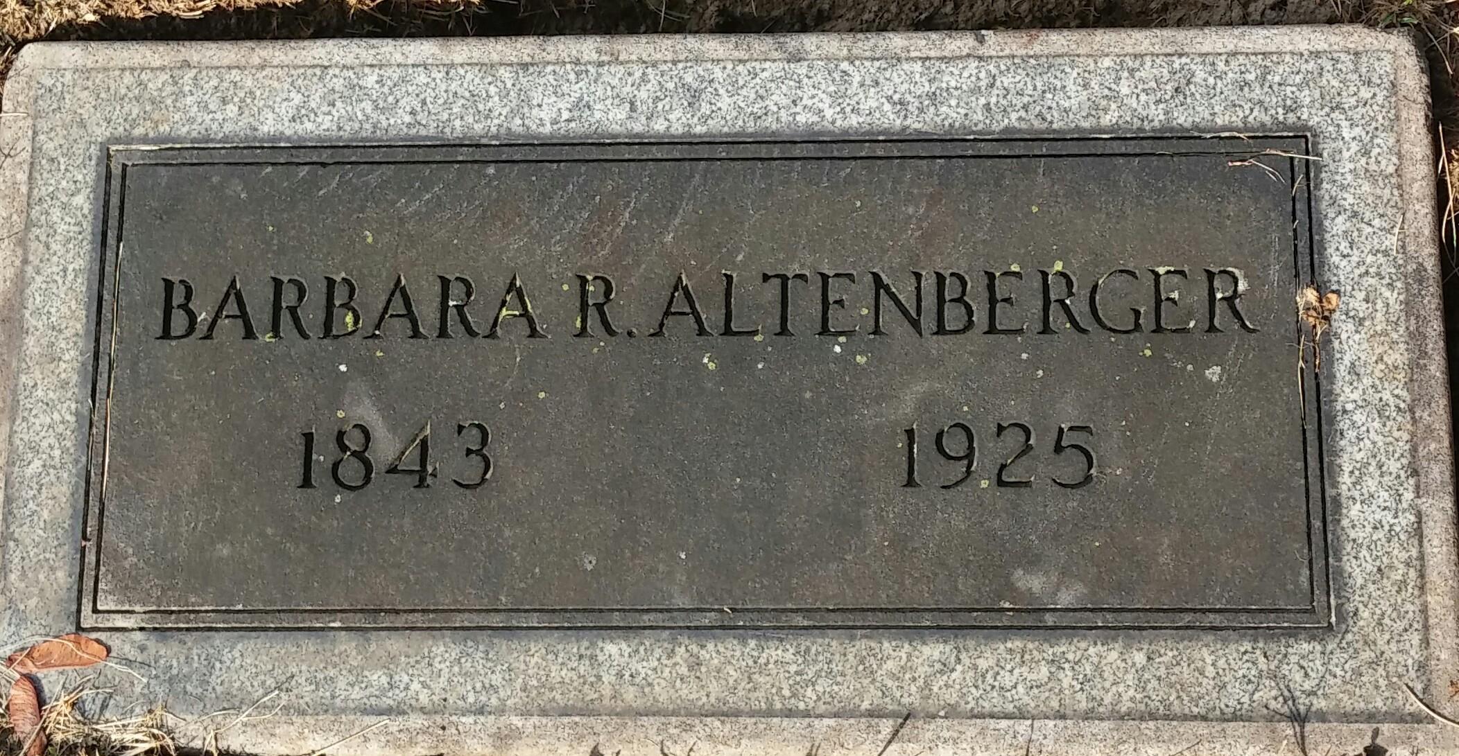 Barbara R <i>Bitzer</i> Altenberger