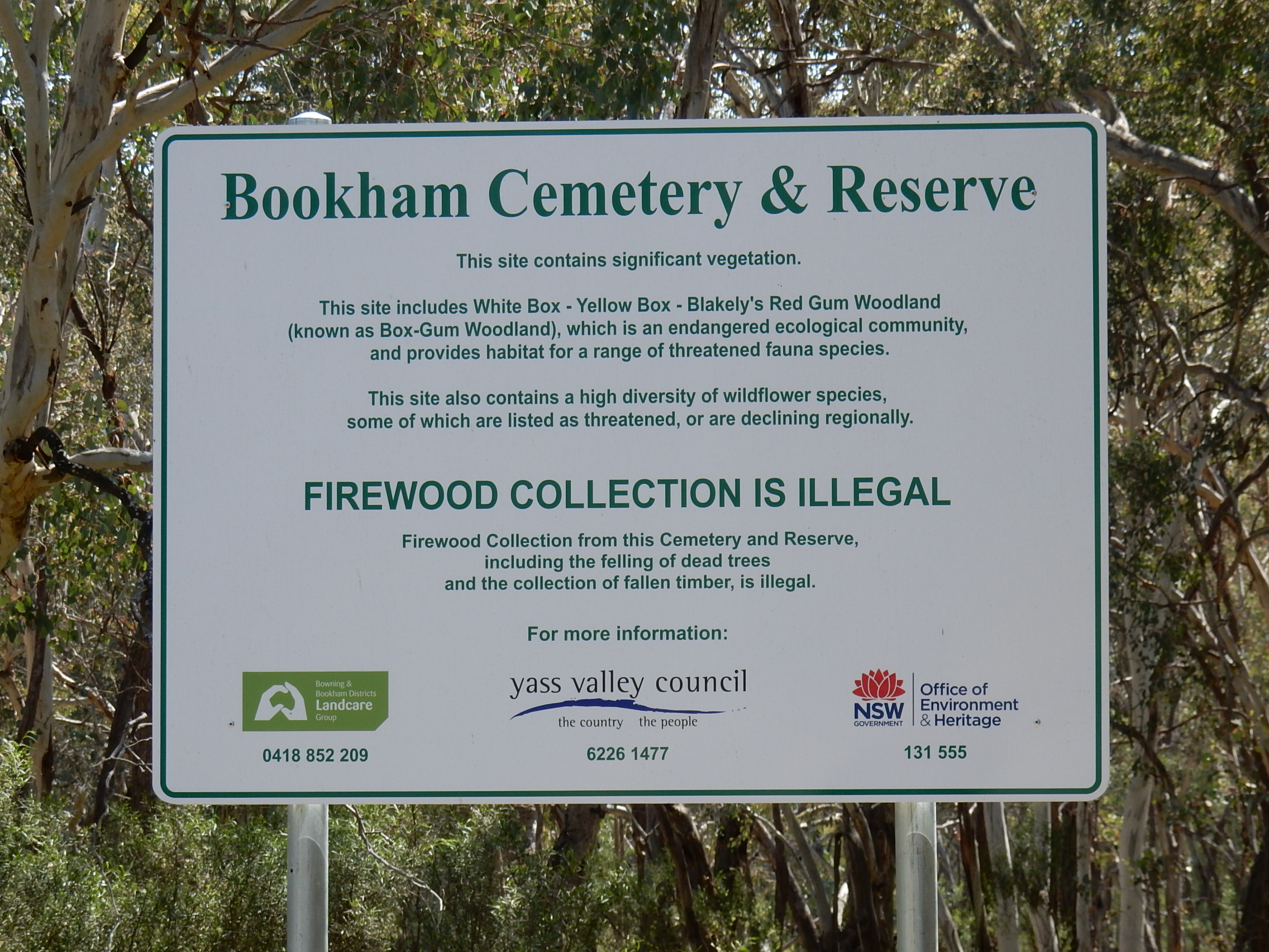 Bookham Cemetery & Reserve in Bookham, New South Wales