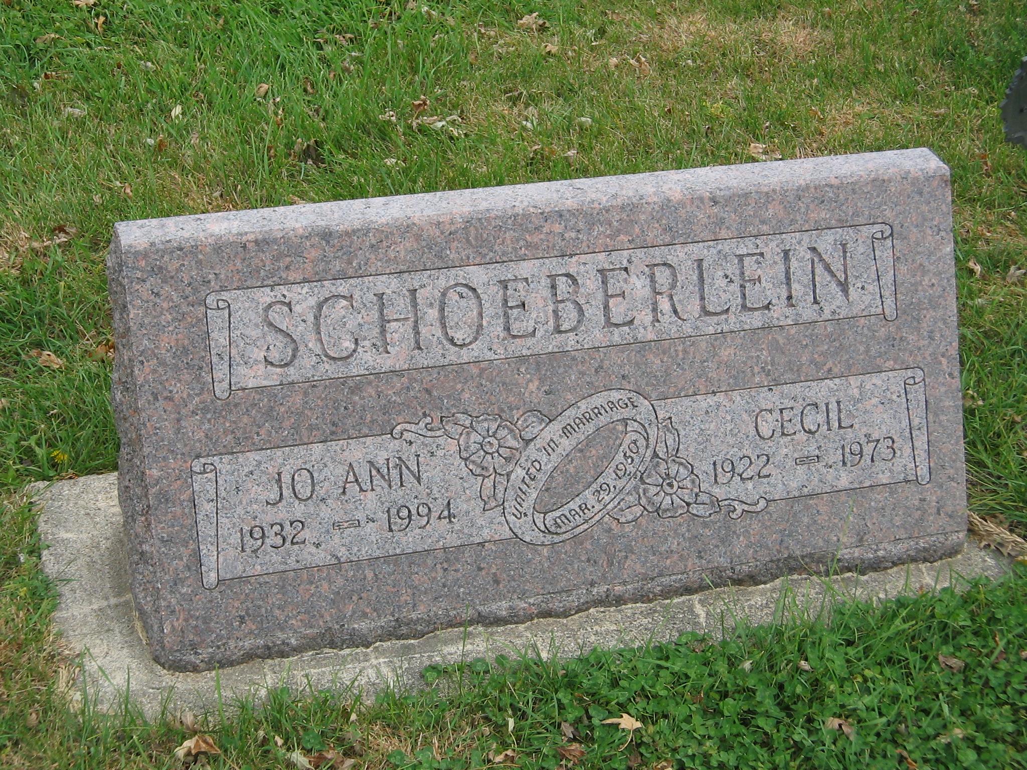Cecil Nier Schoeberlein