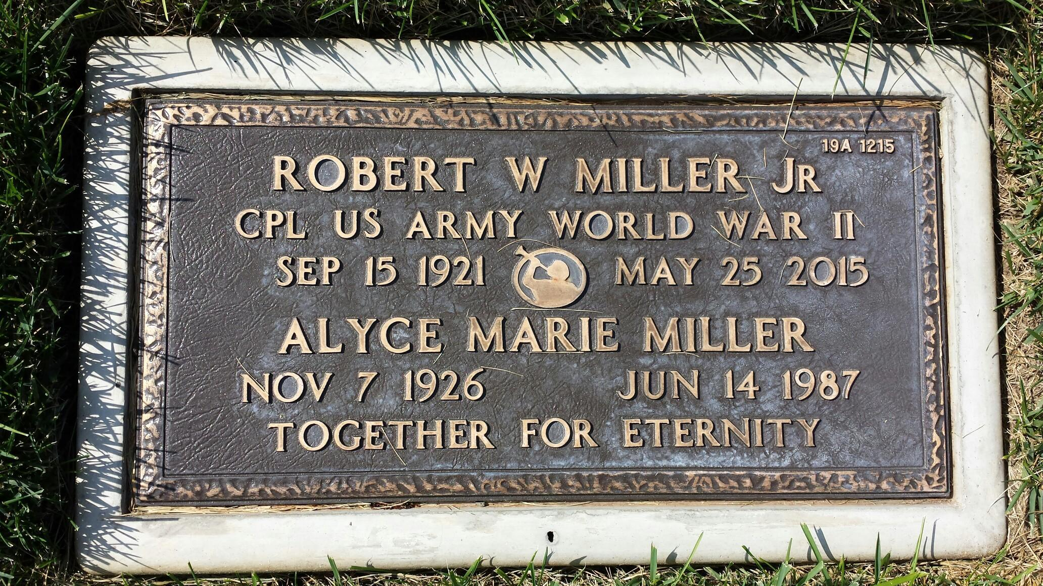 "Robert William ""Bill"" Miller, Jr (1921-2015) - Find A Grave"