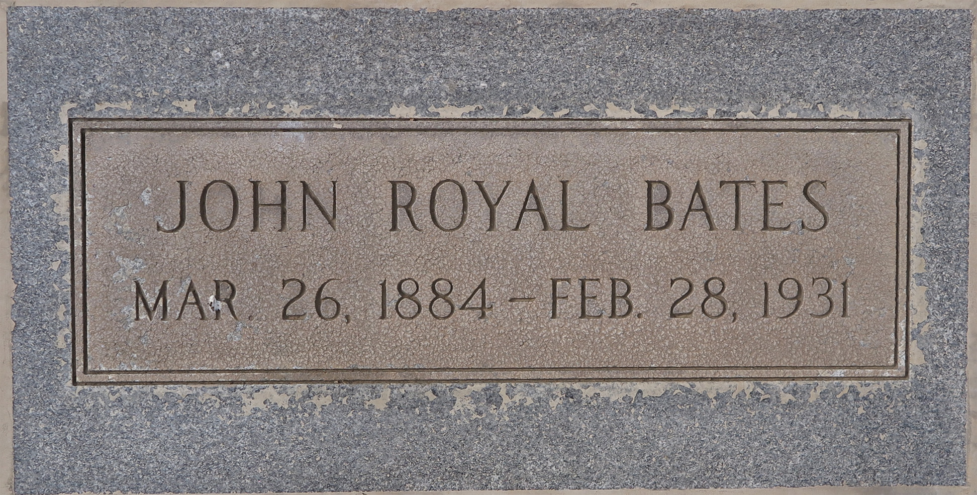 John Royal Bates 1884 1931 Find A Grave Memorial