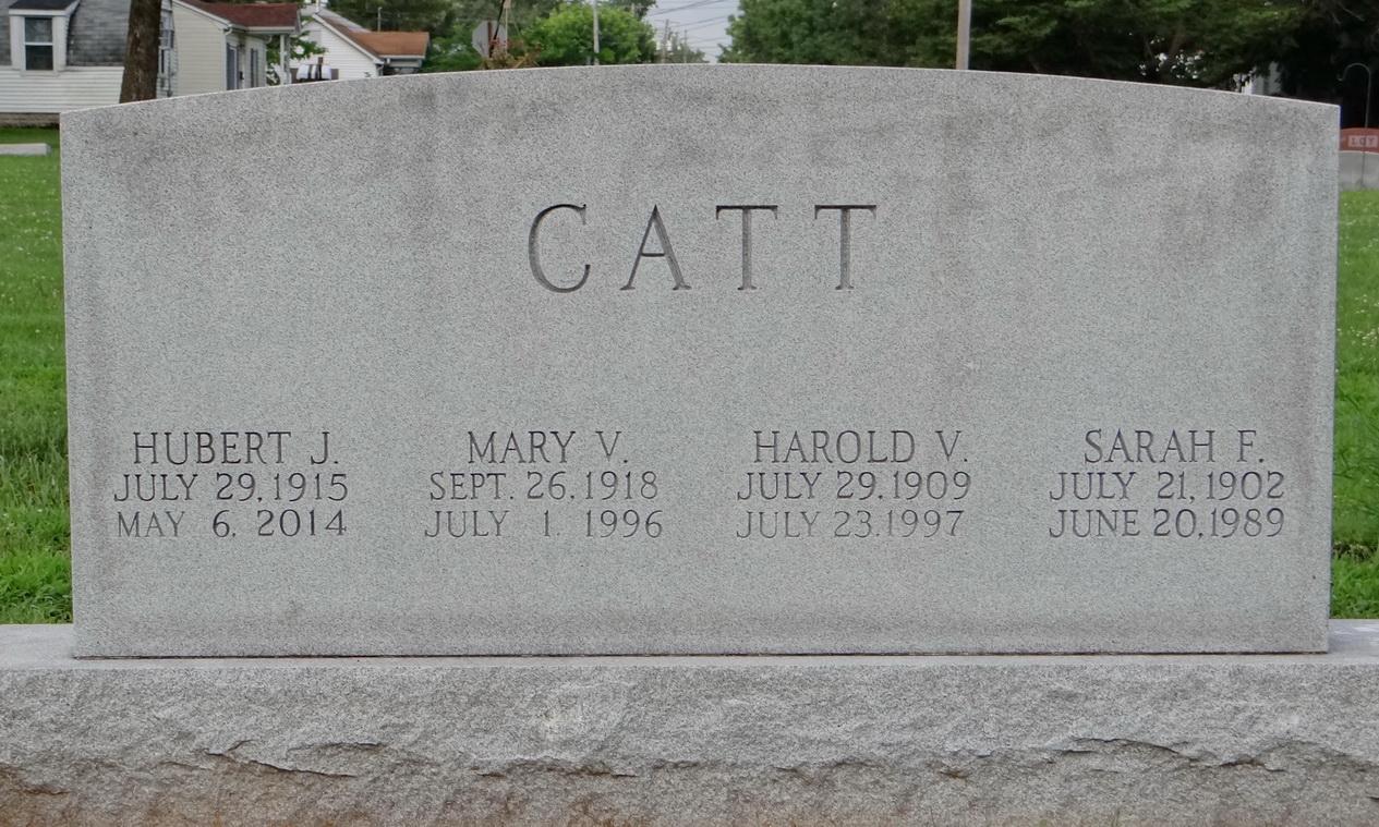 Mary V Catt