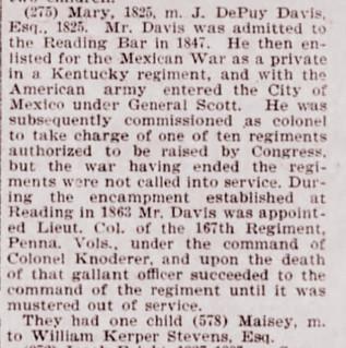 Col Joseph DePuy Davis