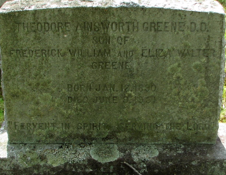 Rev Theodore Ainsworth Greene