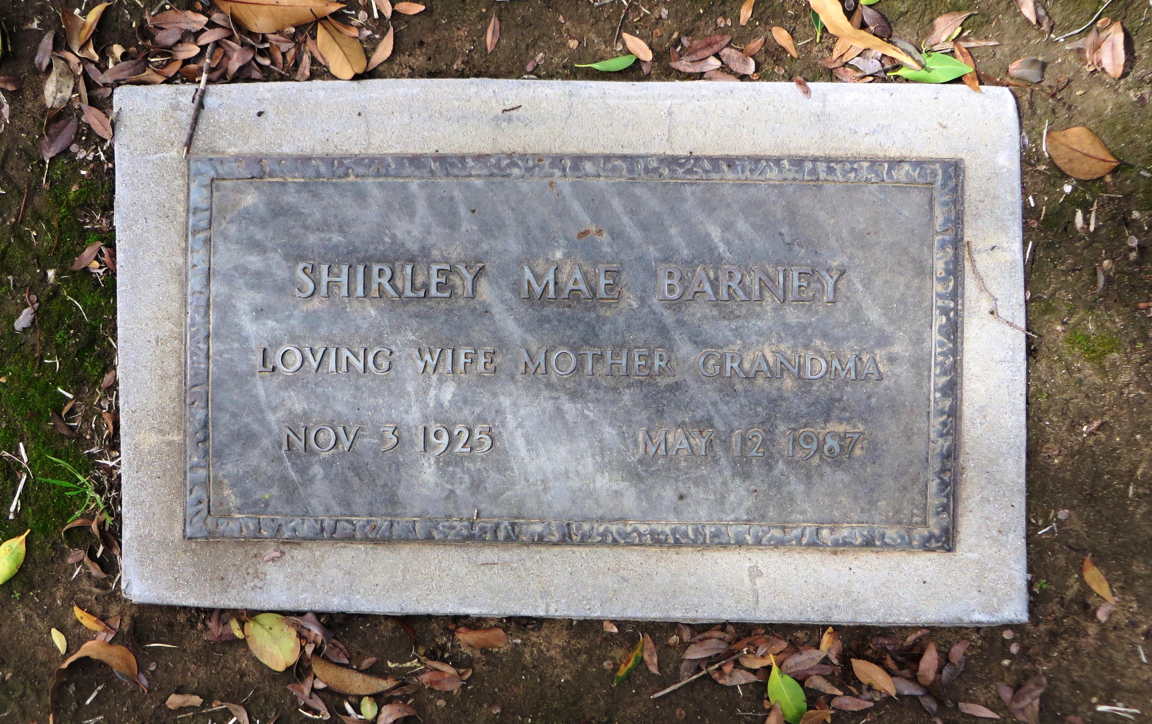 Shirley Mae <i>Iverson</i> Barney