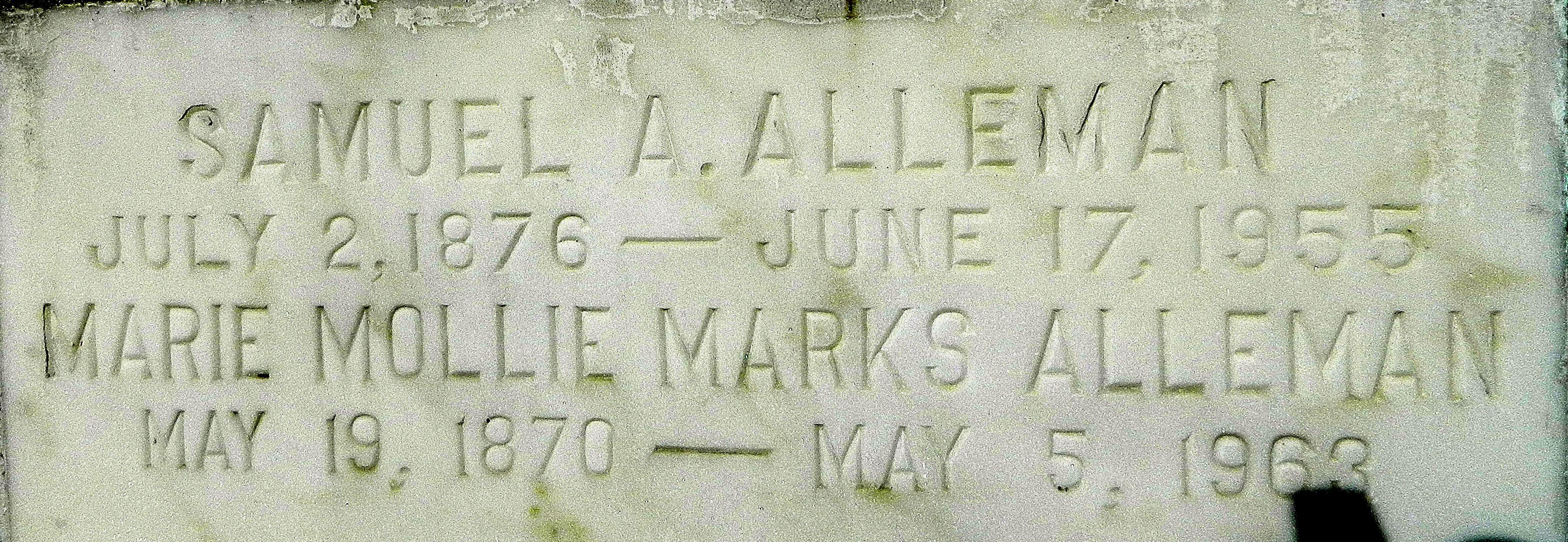 Marie Mollie <i>Marks</i> Alleman