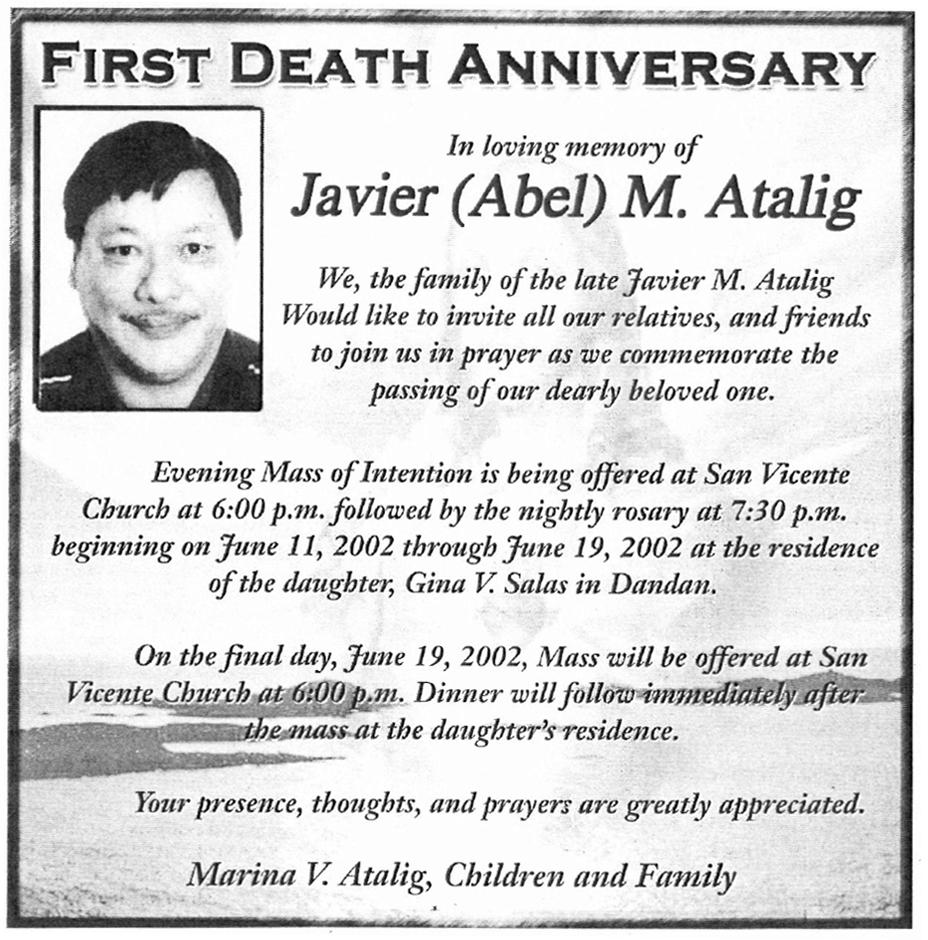 Javier Manglona Abel Atalig 19412001 Find A Grave Memorial