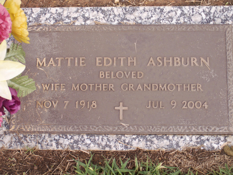 Mattie Edith <i>Phillips</i> Ashburn