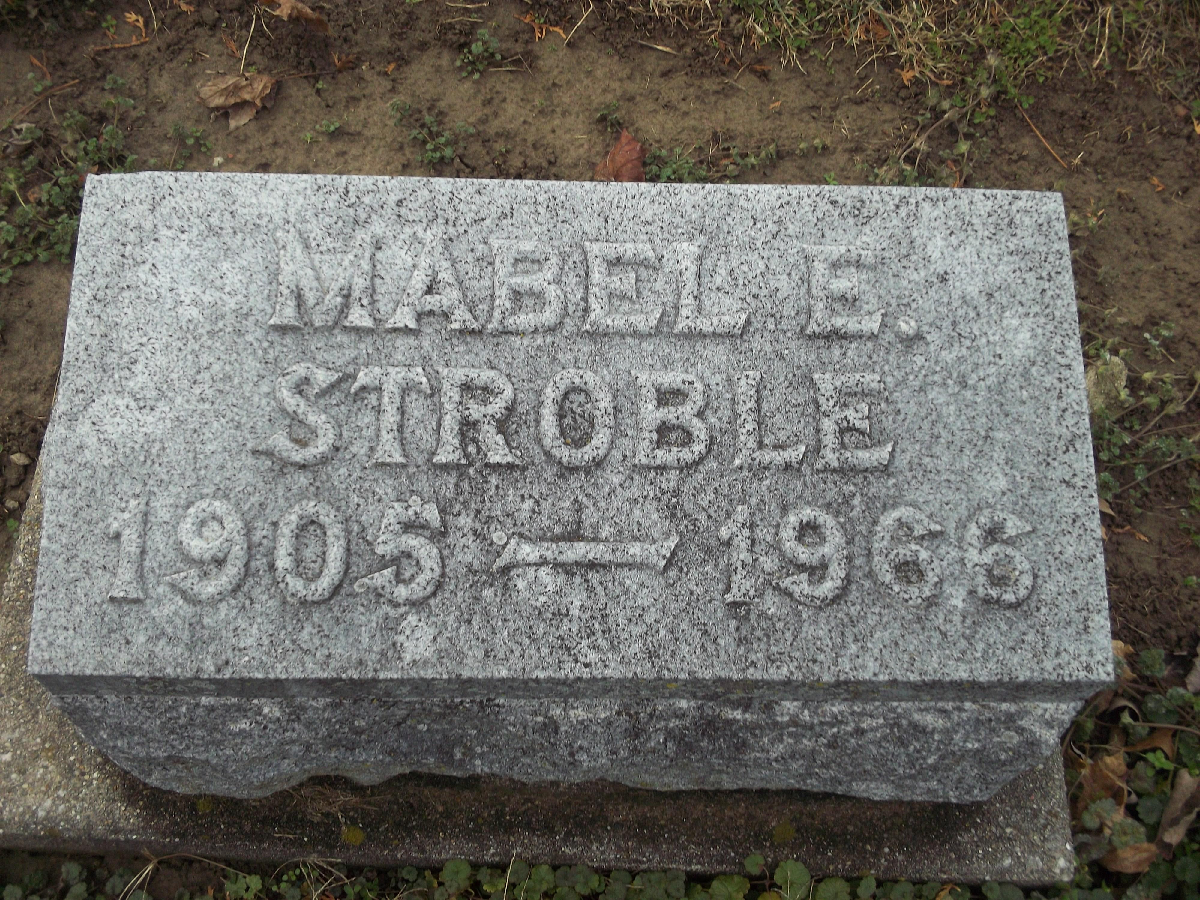 Mabel Edna <i>Metzner</i> Stroble