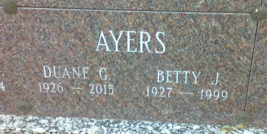 Betty Jane <i>Steuer</i> Ayers