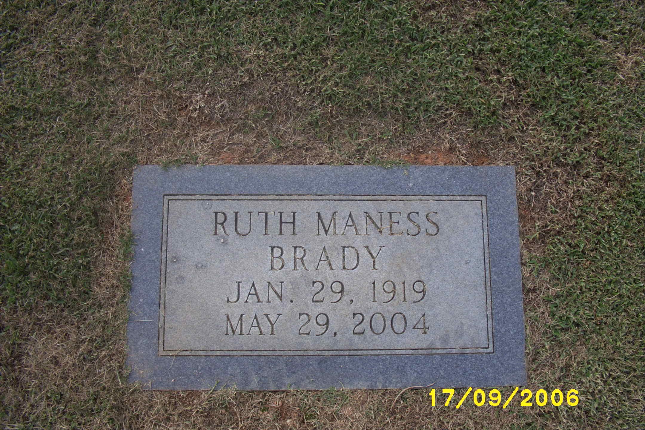 Flossie Ruth <i>Maness</i> Brady
