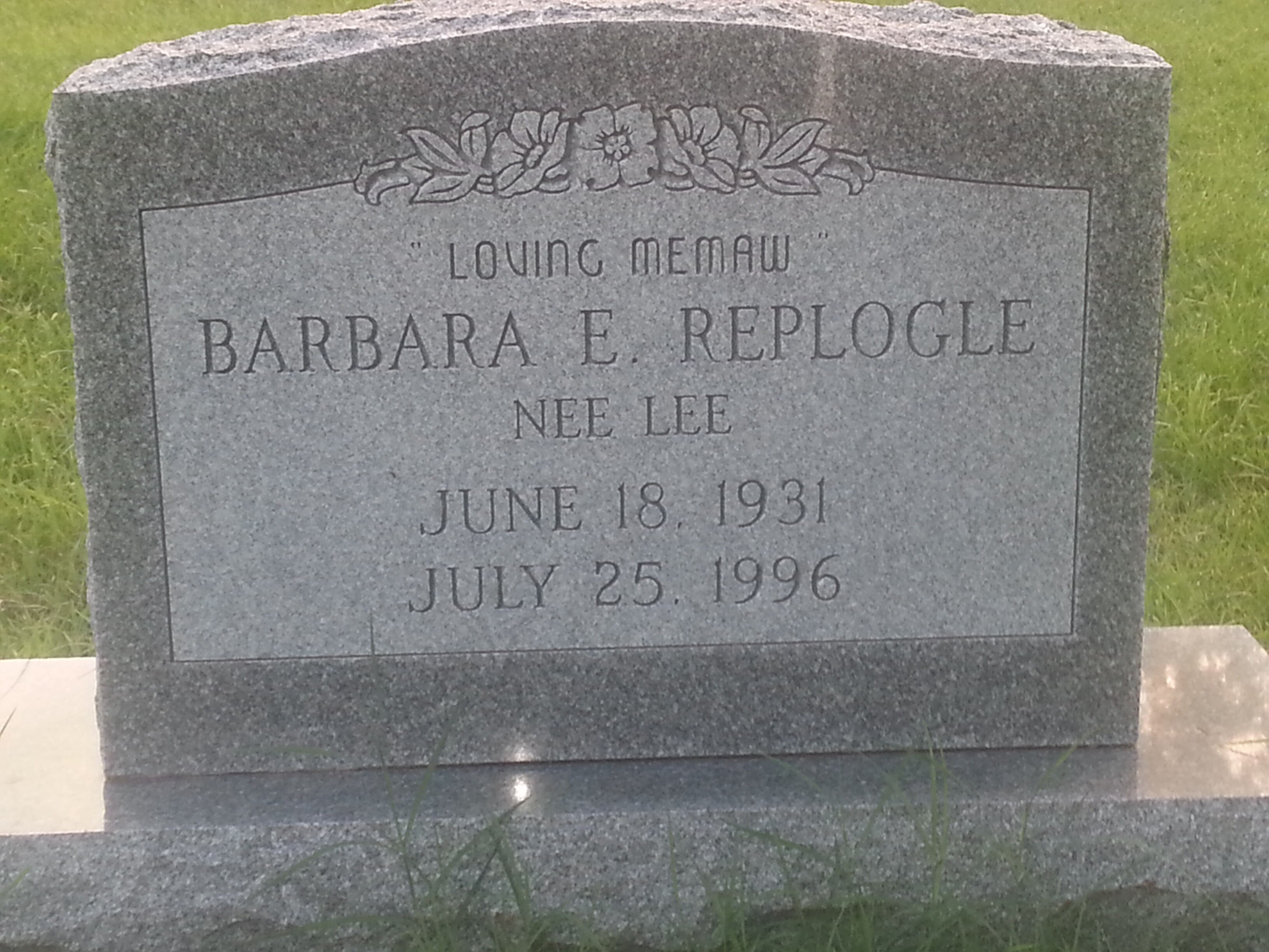 Barbra Ellen <i>Lee</i> Replogle
