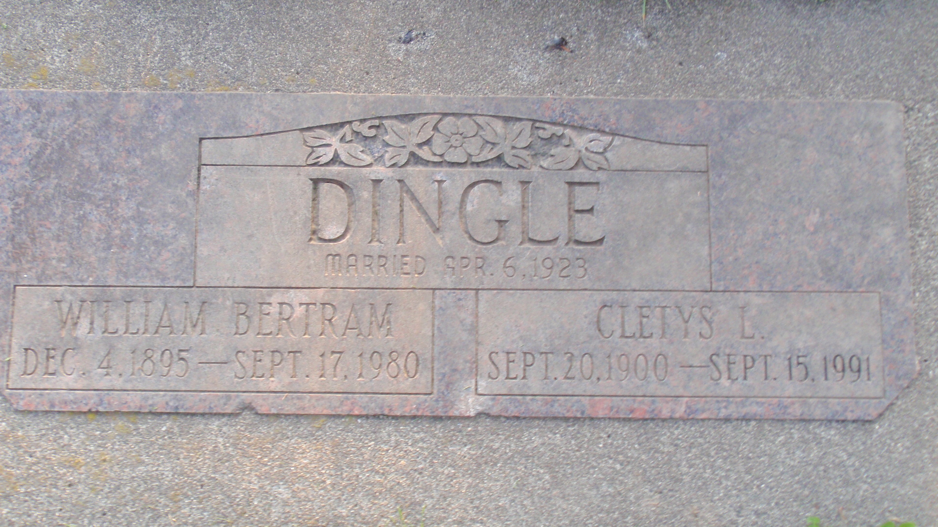 William Bertram Bert Dingle