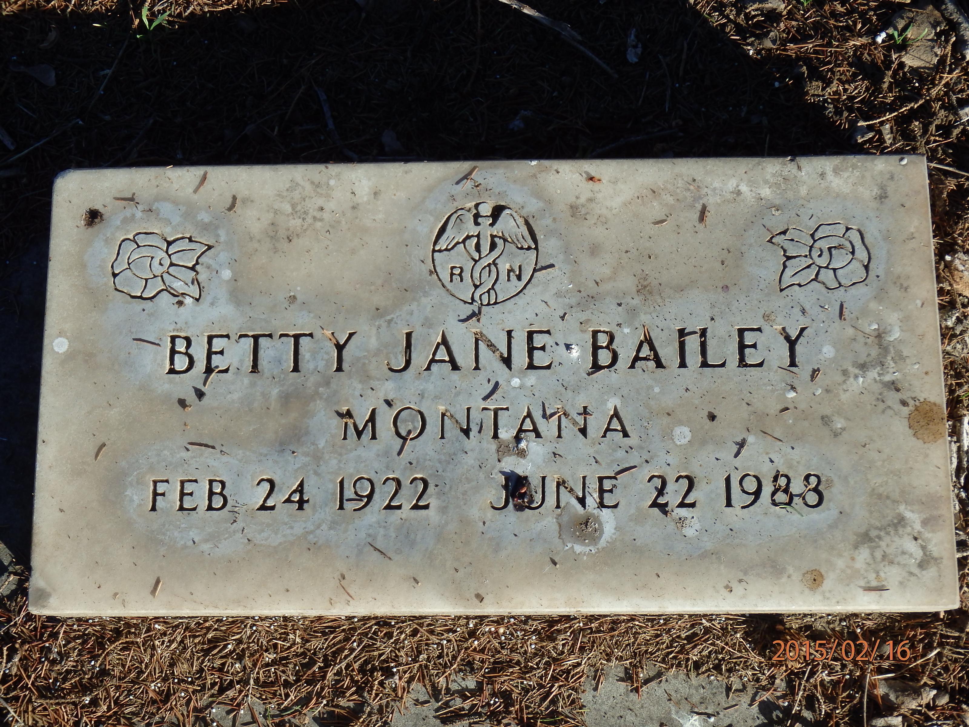 Betty Jane <i>Hanchett</i> Bailey
