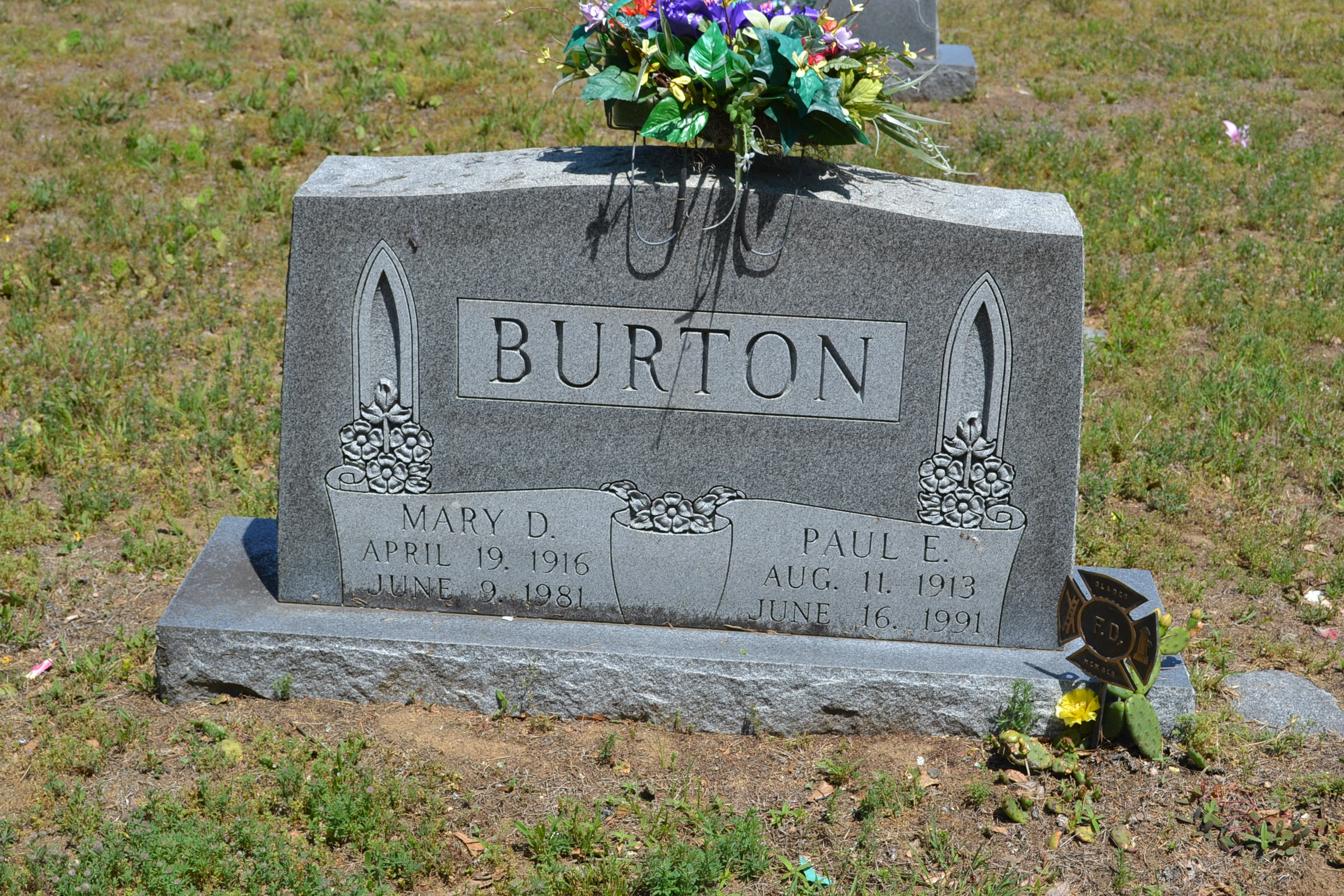 Mary D <i>Prettyman</i> Burton