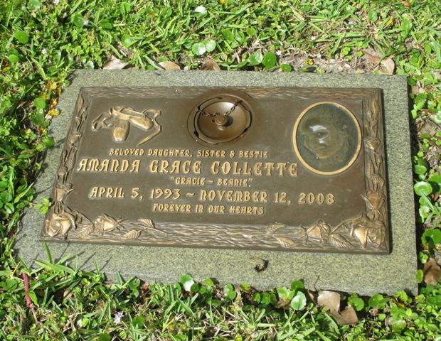 """Amanda Grace """"Gracie"""" Collette (1993-2008) - Find A Grave"""