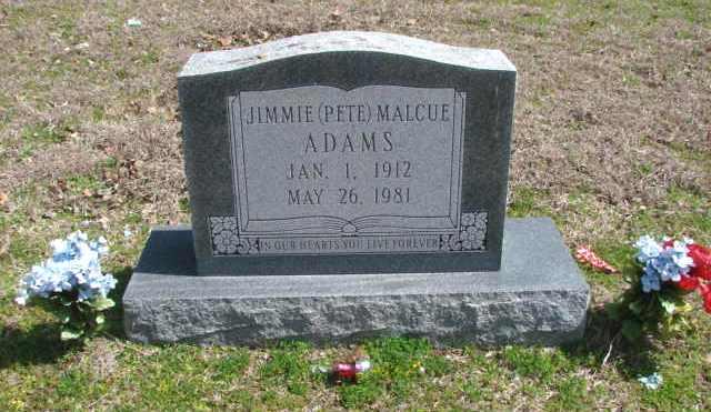 Jimmie Malcue Pete Adams