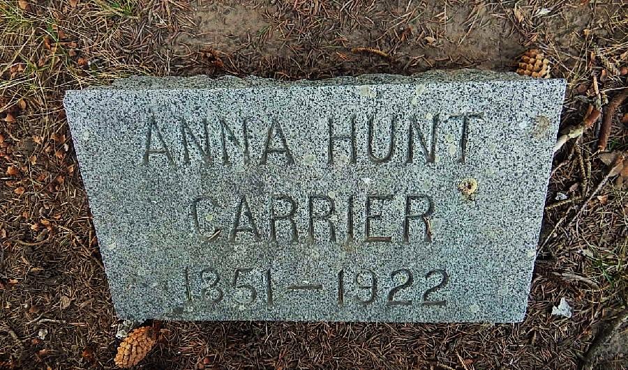 Anna Eliza <i>Hunt</i> Carrier