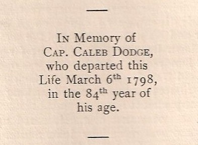 Capt Caleb Dodge