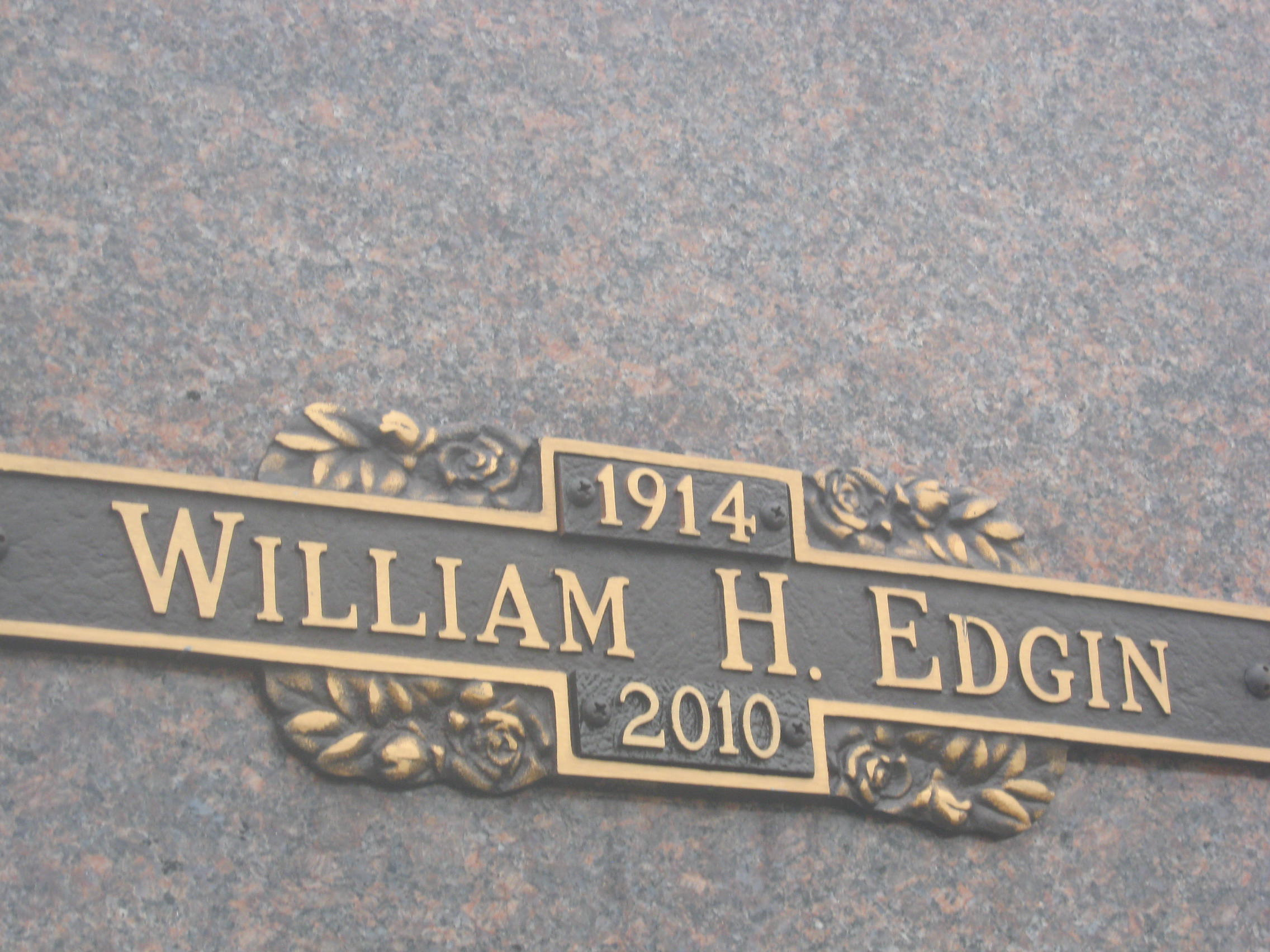William Henry Bill Edgin