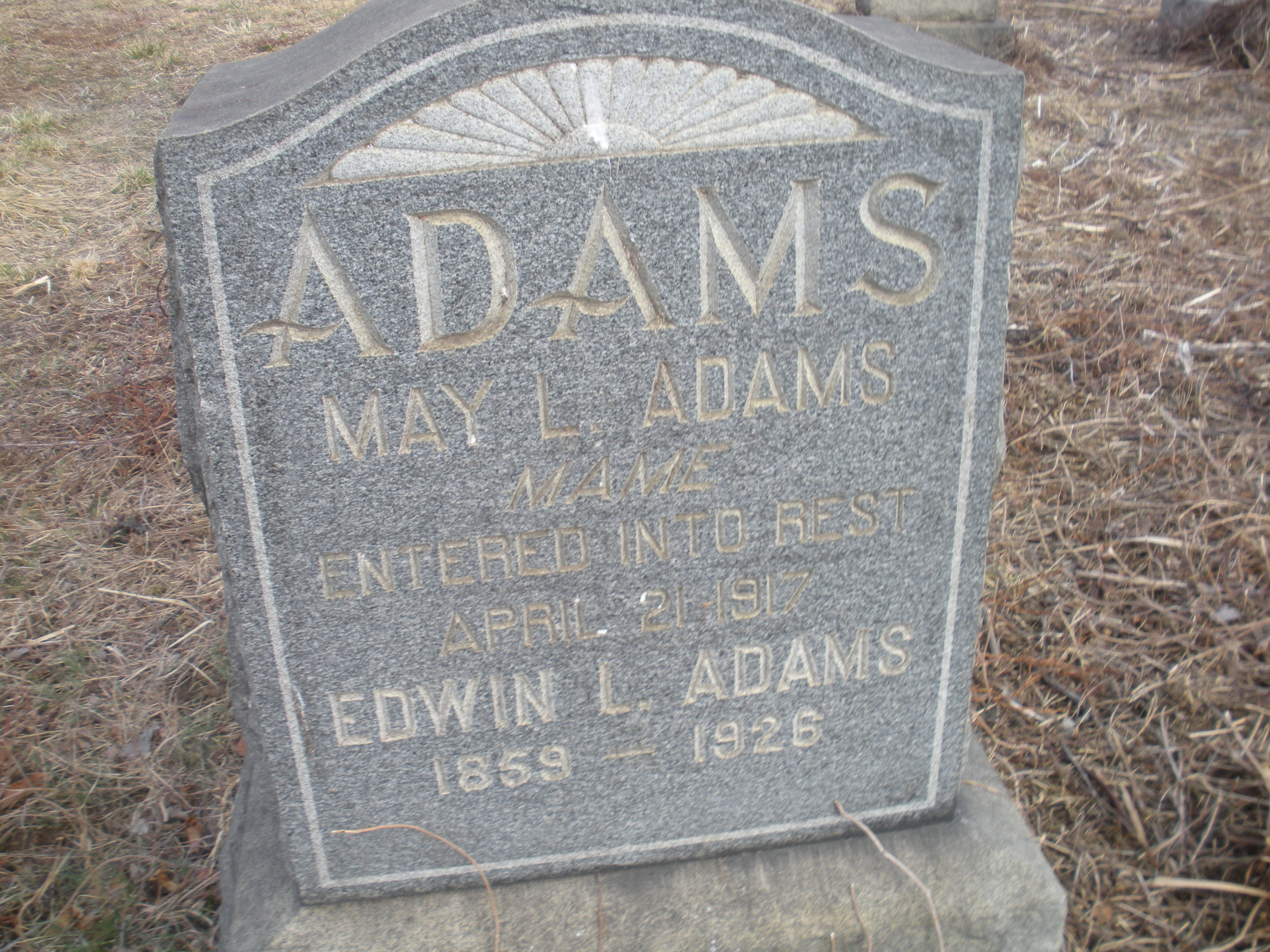 Mary L May Adams