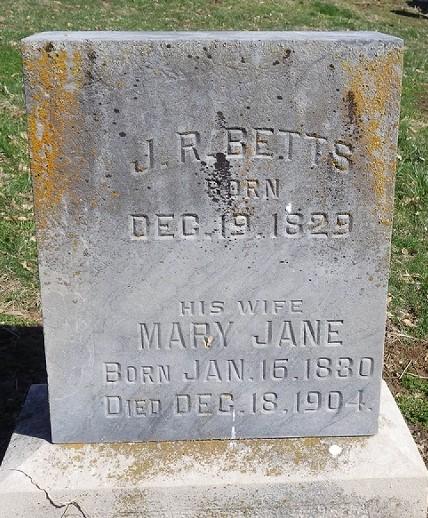 Mary Jane <i>Carson</i> Betts