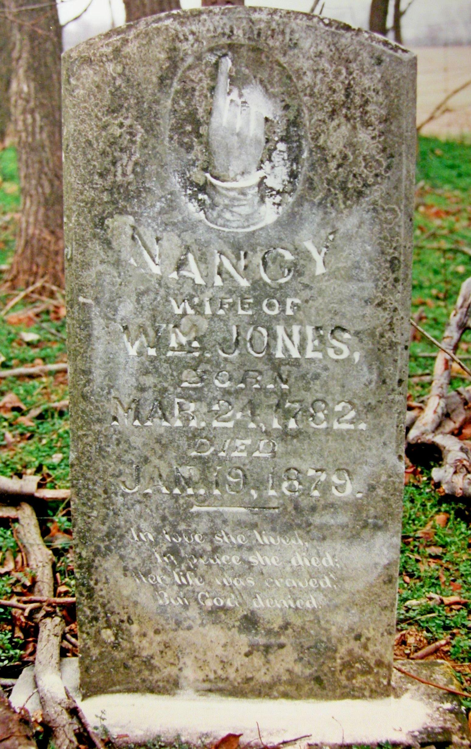 Nancy <i>Mitchell</i> Jones