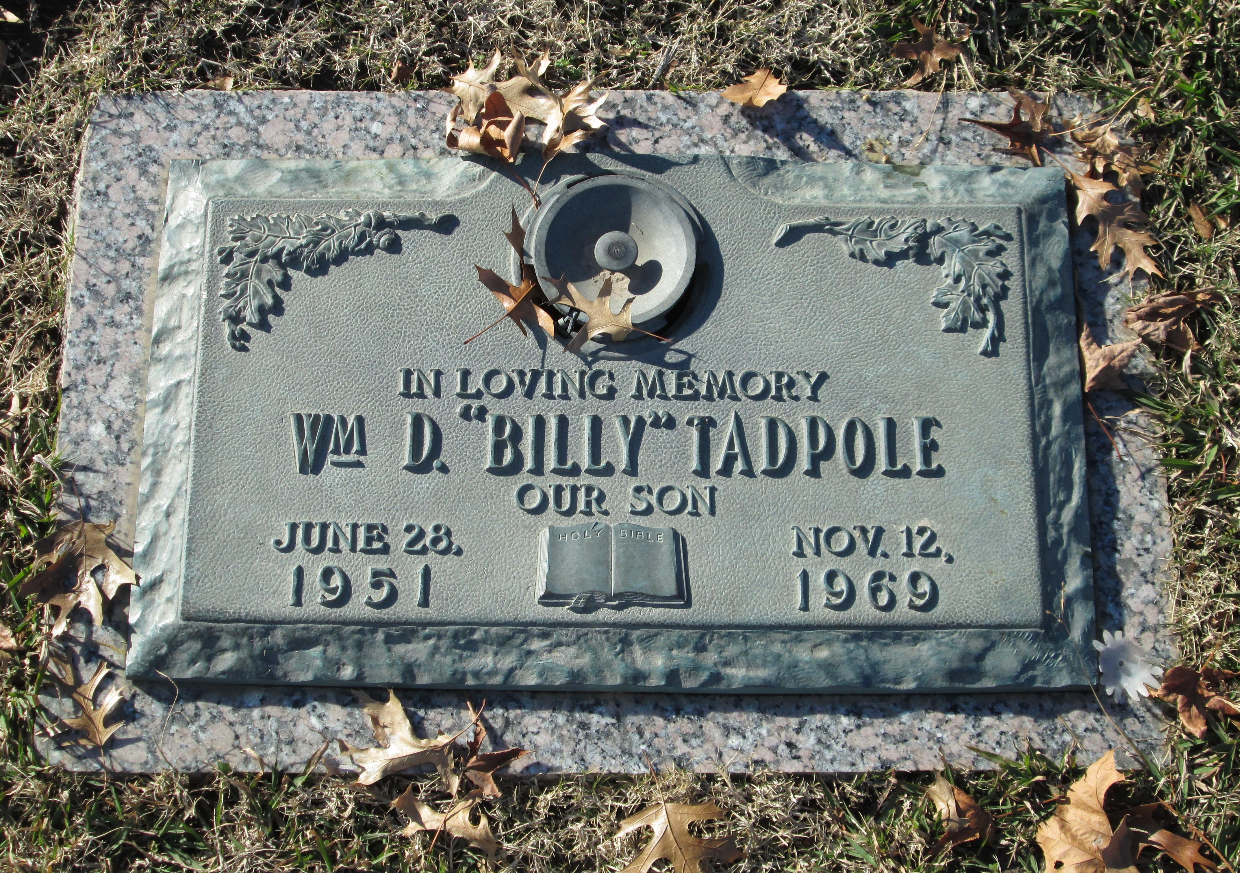 William DeWayne Billy Tadpole