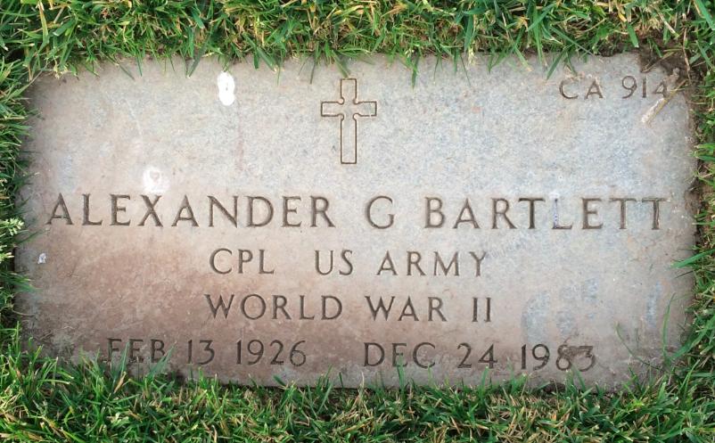 Corp Alexander George Bartlett, III