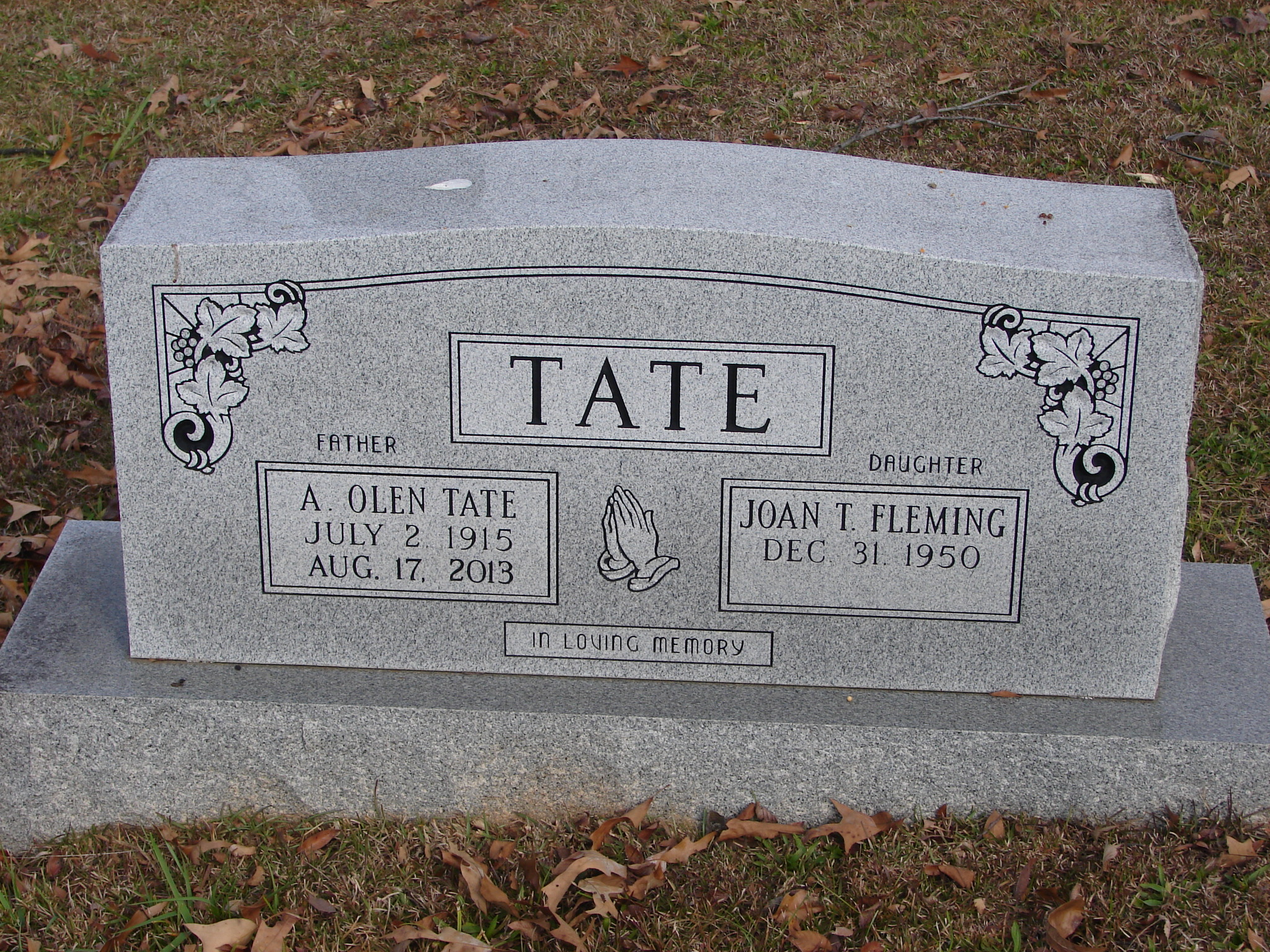 Beton ölen olen tate 1915 2013 find a grave memorial