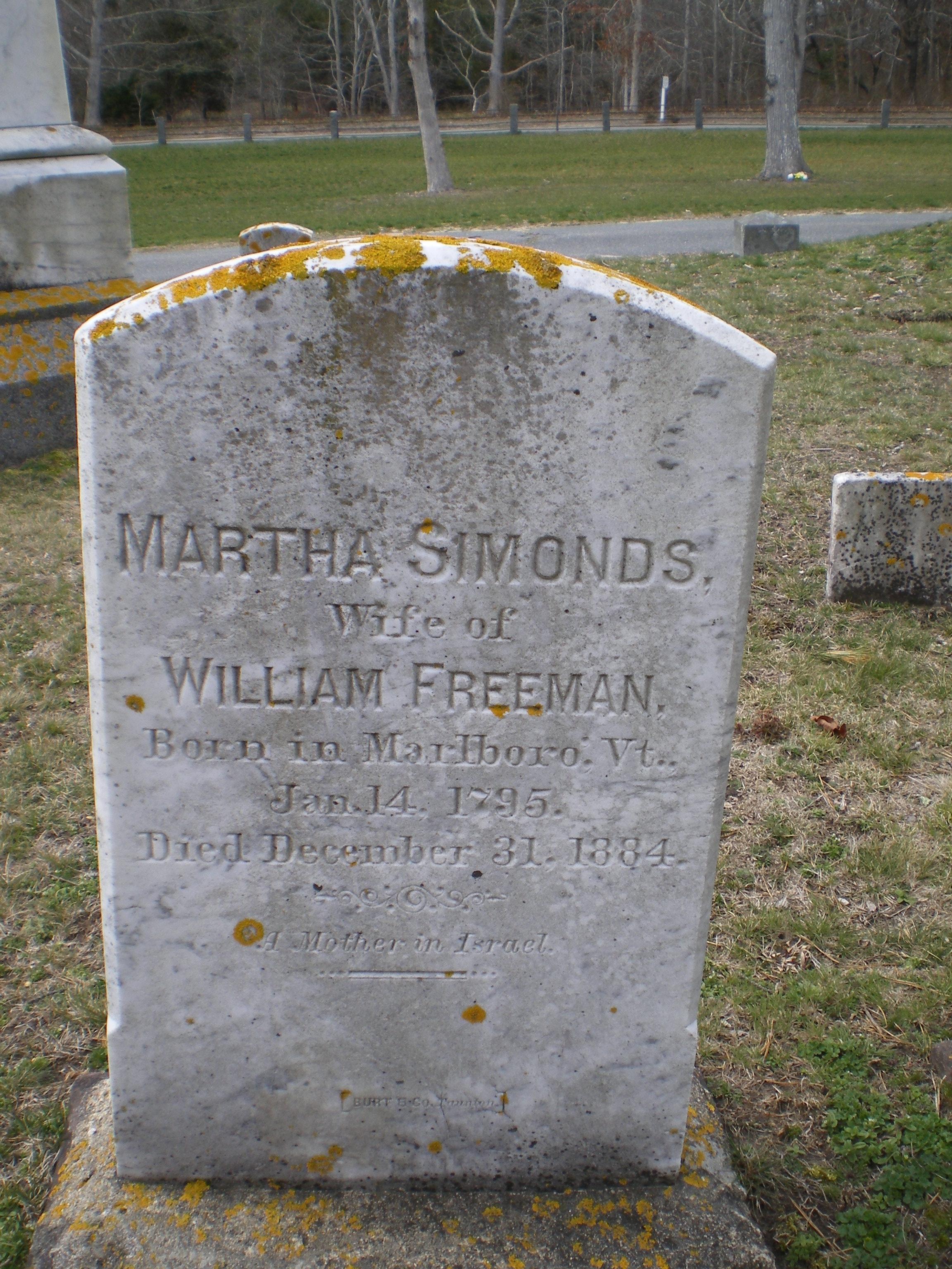 Martha <i>Simonds</i> Freeman