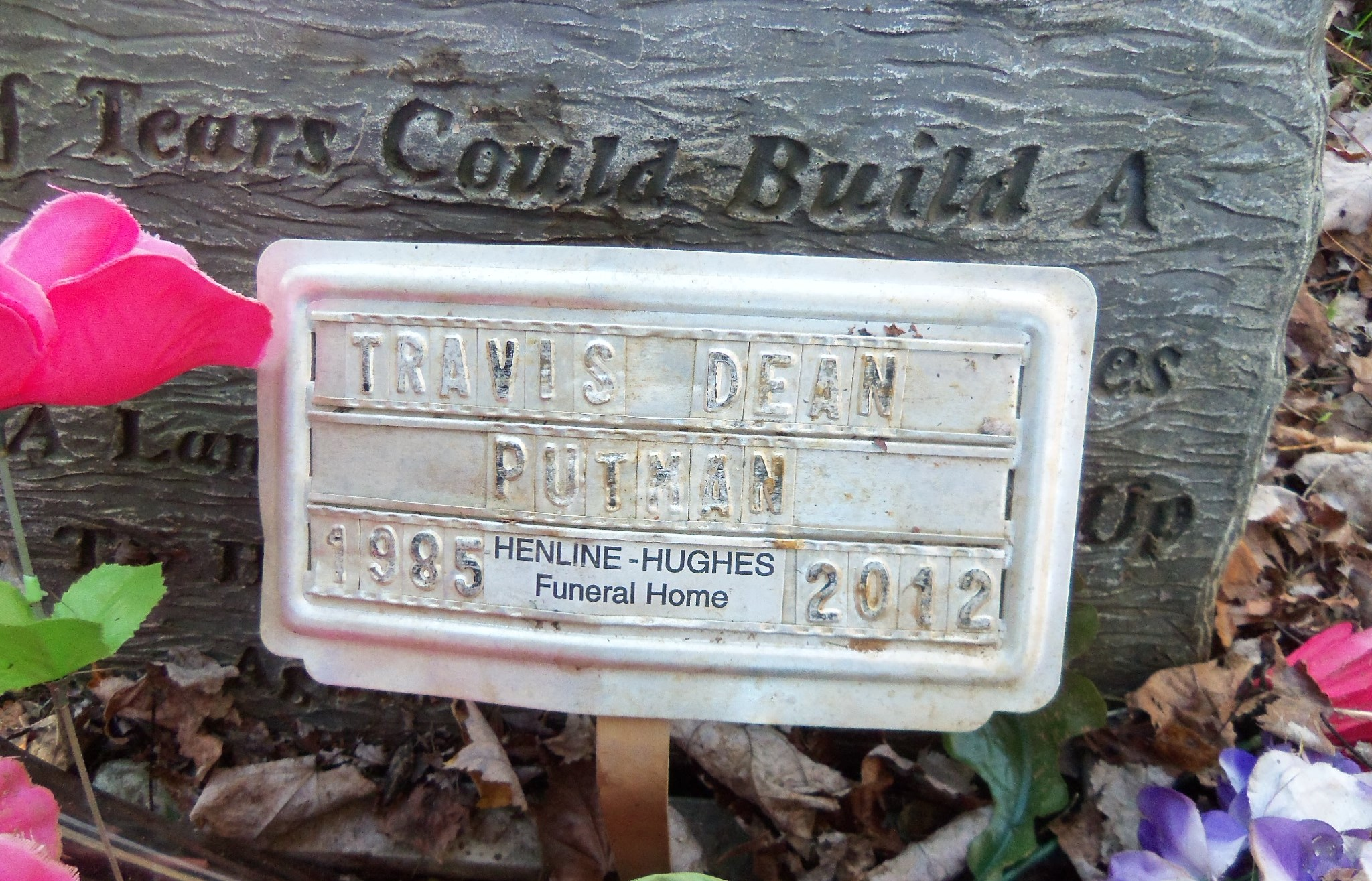 Travis Dean Putman Unknown 2012 Find A Grave Memorial